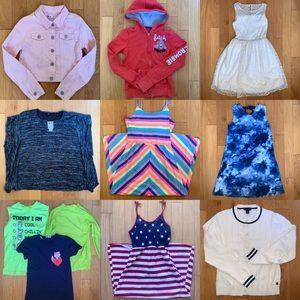 Lot Bundle of Girls Clothes Dresses & Tops